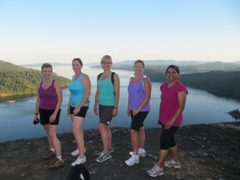 Group participating in Hike n Tone Fitness Classes