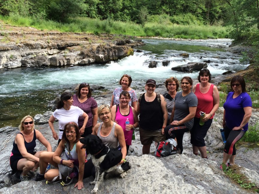 Hike n Tone, moderate group. Cowichan River Park, Cowichan Valley, BC,