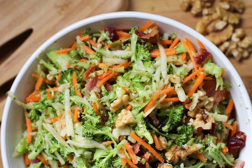 Big Batch Broccoli Salad with Avacado Lime Dressing. Forever Fit, Duncan, BC