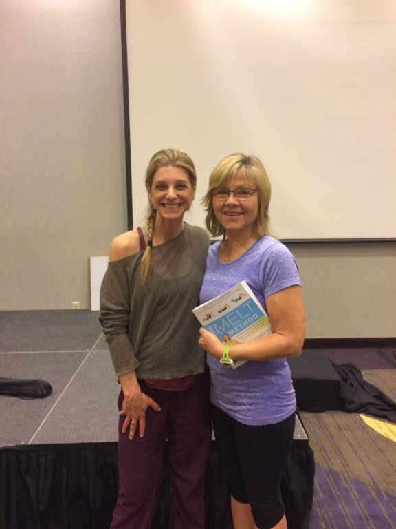 So proud to be standing with MELT creator, Sue Hitzmann at the MELT course in Portland. Forever Fit, Duncan, BC