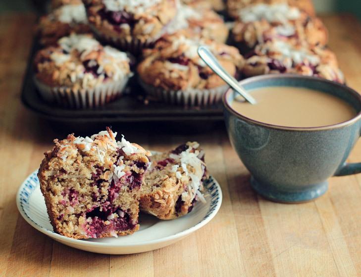 Gluten Free Raspberry Coconut Muffin