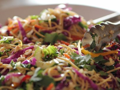 You are going to love this Low Carb Asian Noodle Salad! Noodles with lots of protien and fiber, lot of fresh veggies with the scrumptios tast of sesame oil. Impress your friends at a gathering or have the leftovers tomorrow... if you can wait that long.
