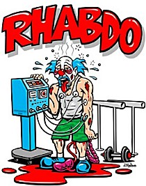 Working out at an intense level before your body is ready is counter productive and may even be harmful to your health. Rhabdo is one possible side effect. Essencially, the over exhurtion breaks down your muscle tissue and then they leaks toxins into your bloodstream and liver. Forever Fit, Duncan, BC.