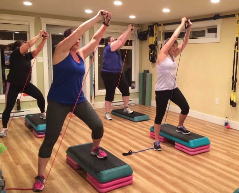 Step n Strength is one of the best ways to burn calories and increase muscle tone. More muscle used, more cardio and more benefits. Forever Fit, Duncan, BC.