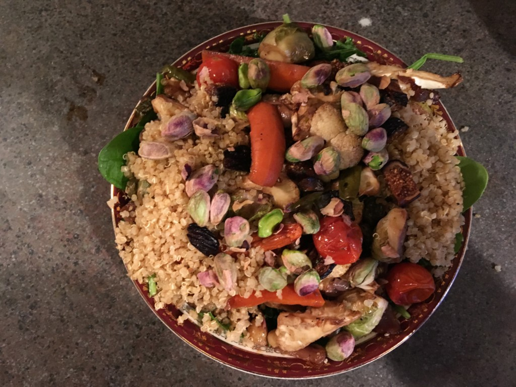Moroccan Salad Bowl with Chickpea and Quinoa is more than a salad. Impress your friends and family with this gluten free and vegetarian dish as a main meal or side dish. It is delicious, low calorie and can be made order. Forever Fit, Duncan, BC