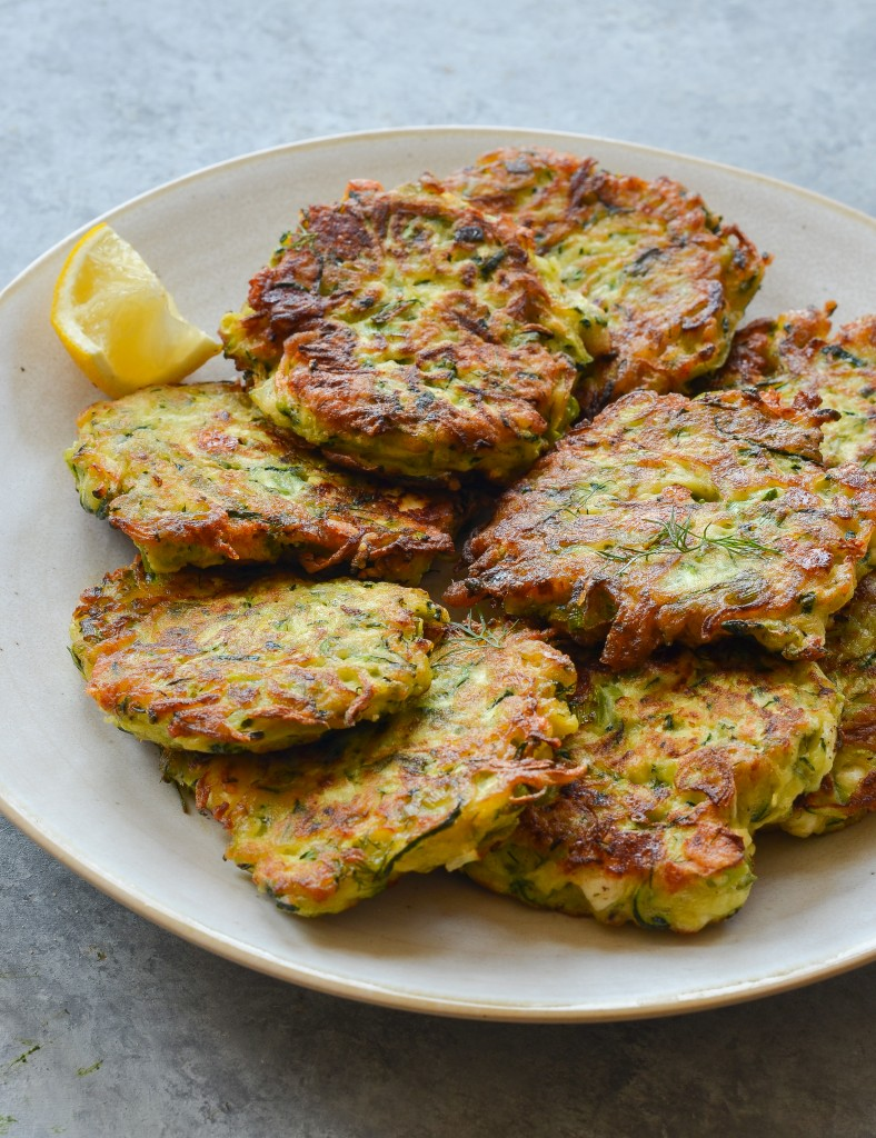 Light, crisp, healthy and delicious. These zucchini Fritters can be made small as an apitizer or larger for a side dish. Simple and inexpensive to make, so you can serve them anytime.
